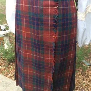 Vintage 2950 Wool Plaid Celtic Skirt Kilt USA Unio